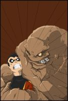 Robin Vs Clayface Colors by Anny-D