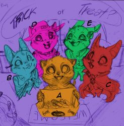 Trick or treat - YCH auction by FuriarossaAndMimma