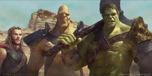 Hulk Korg and Thor by vshen