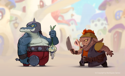 The Croc and the Hog by Murfish