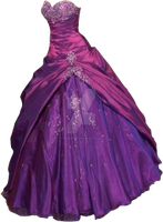 Purple Gown small by Spyderwitch