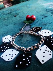 Vegas Dice + Cherries Bracelet by Tattooed-Gumball