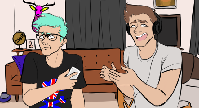 Connor Franta and Tyler Oakley by Saaiie