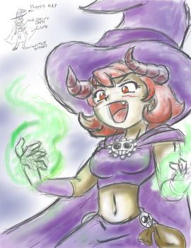 Gear Witch Malice sketch by soul-less-puppet