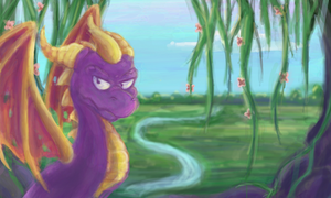 Spyro The Dragon on colorslive by SimonTheFox1