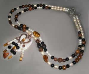 Tiger's Eye Heart necklace by DAnnsCreations