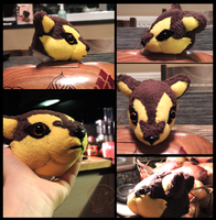 Wolf Plush Kou WIP by AzureHowlShilach