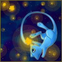 Collecting Stars - Shiny Mew by Nestly