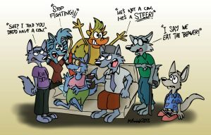 Rocko and the Wolfe Family by FreyFox