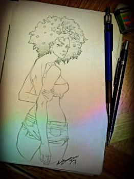 Afro Gal by Lovely-Bacar