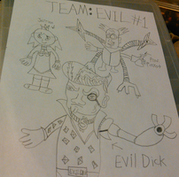 Team Evil 1 (Sketch) by TwistedDarkJustin