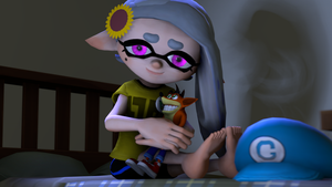 Bluie's Crash Bandicoot Plushie [Splatoon SFM] by Geoffman275