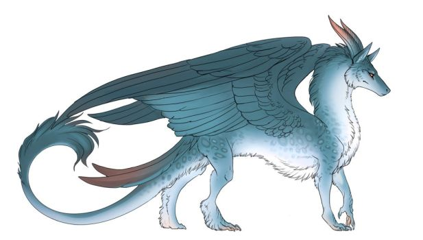 Snow Feather Dragon by Freilaclanbarin