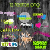 12 TEXTOS PNG + by Discopada