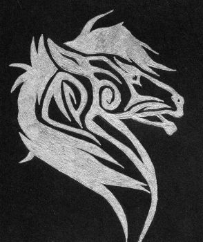 Horse tribal by Bexy1990