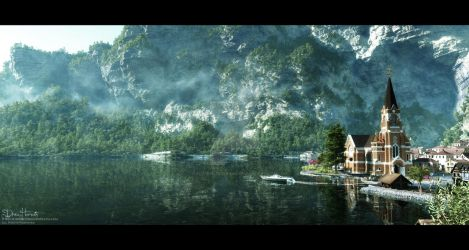 Little Cute Lake Village by 00AngelicDevil00