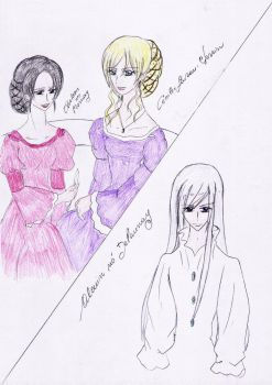 Thelesis, Cecilie e Alcuin by Lacus-Clyne