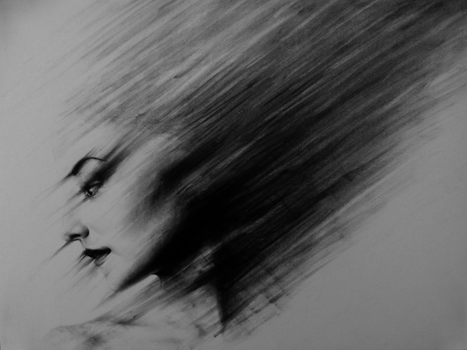 Charcoal drawing by Sapphireweaver