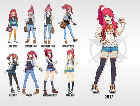 Timeline of Nova Designs by zerudez