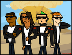Total Drama- The Rebellious Vulture Boyz (RVB) by Galactic-Red-Beauty