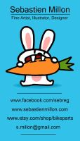 Carrot Rabbit Business Card by sebreg