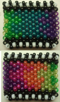 Melted Rainbow Film Kandi Cuff by anne-t-cats