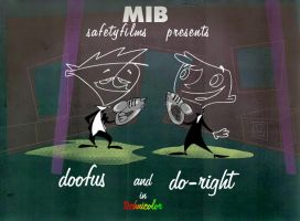 MiB Doofus and  Do-Right color (1999) by AllanAlegado