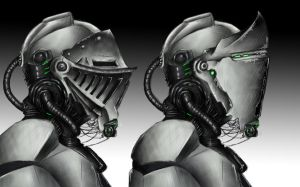 Concept Futuristic Knight Armour by BlackMaster23