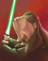 Qui gon by bangalore-monkey
