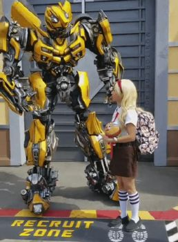 I touched Bumble Bee's hand for the first time by Magic-Kristina-KW
