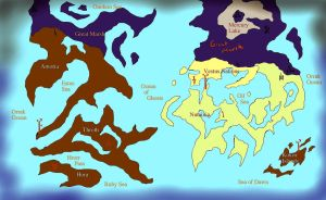 Kronos World Map by 13thprotector