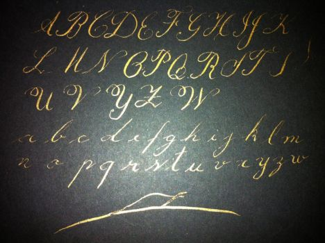Copperplate Alphabet - Crude by Firemind10000