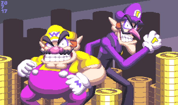 Wario and Waluigi, the good brothers by DangerMD