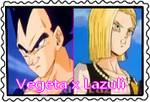 stamps: Vegeta x Android18 by CogetaCats
