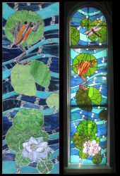 Koi Carp Window IV by Ellygator