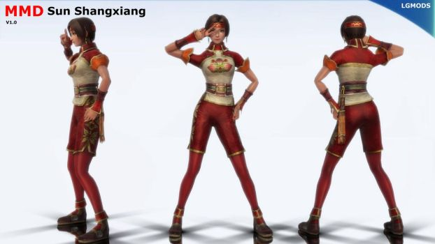 [MMD DL] DW7 : Sun Shangxiang (Download) by LGMODS