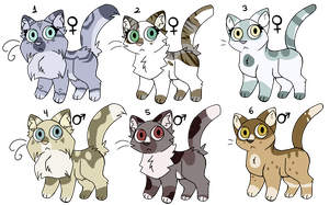 [OPEN] Chibi Cats - 40 points by Lobi-Adopts