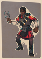 Female Demoman concept by ChemicalAlia