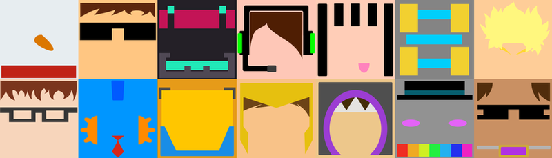 Minecraft Youtubers Minimalism by GoldSolace