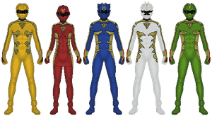 The Five Fingers of Poison Rangers by partiallyBatty