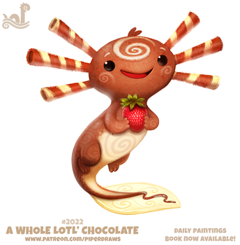 Daily Paint 2022# A Whole Lotl' Chococlate by Cryptid-Creations
