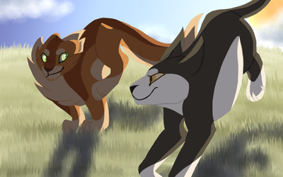 Tallstar and Jake (Warrior Cats) by QHoot