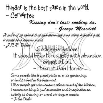 WordArt - Cooking Quotes by WillowRaevyn