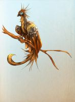 Hoatzin Gryphon by cursed-sight