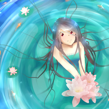 Water Lilies by Gimpgirl44