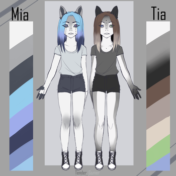 Tia and Mia by TenderrGamer