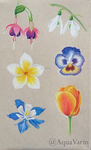 Toned paper flowers by AquaVarin