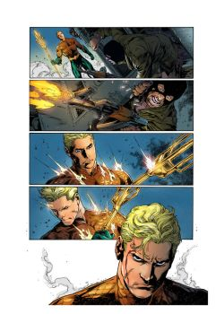 Aquaman Issue 01 Page 07 By Joeprado2010 Color by marcopelandraart