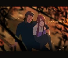 Genma and Hatsu by Km92