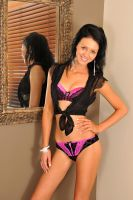 Tara - lingerie and sheer black 2 by wildplaces